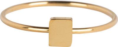 R721 Minimalist Rectangle Gold Steel