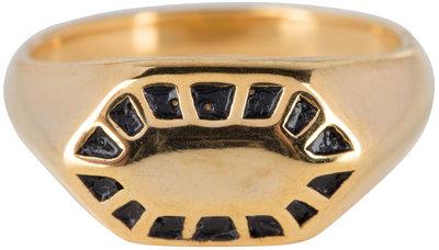 R674 Fancy Seal Gold Steel