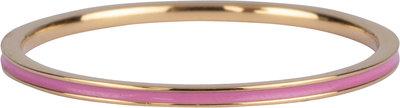 R925 Petite Steel Goud Pink Enamel