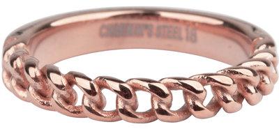 R878 Heavy Half Chain RoseGoudkleurig  Staal
