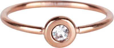 R954 Donut rosegold white crystal