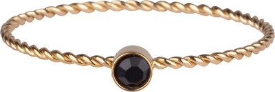 R949 Shine Bright Twisted Gold black crystal