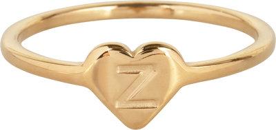 R1015-Z Letter Z In My Heart Gold