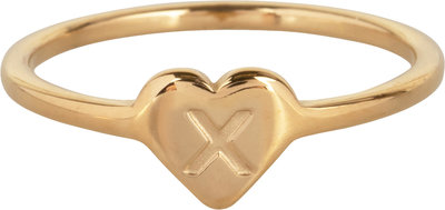 R1015-X Letter X In My Heart Gold