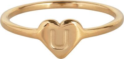 R1015-U Letter U In My Heart Gold
