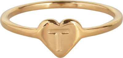 R1015-T Letter T In My Heart Gold