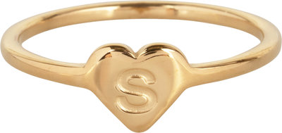 R1015-S Letter S In My Heart Gold