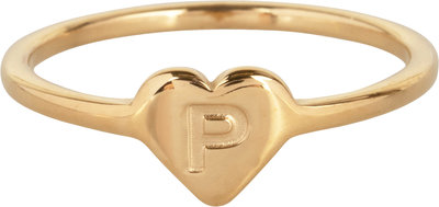 R1015-P Letter P In My Heart Gold