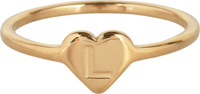 R1015-L Letter L In My Heart Gold