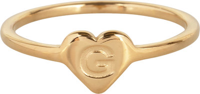R1015-G Letter G In My Heart Gold