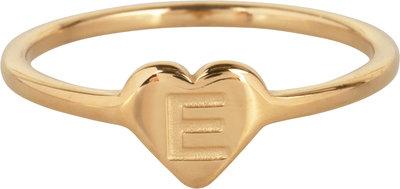 R1015-E Letter E In My Heart Gold