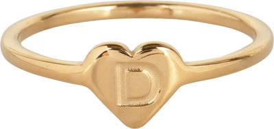 R1015-D Letter D In My Heart Gold