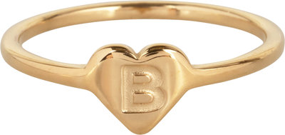 R1015-B Letter B In My Heart Gold