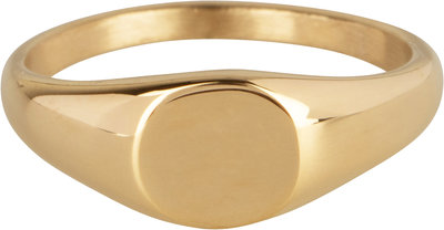 R978 Zegelring petite rond gold
