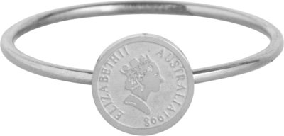 R962 Wish Coin Steel Ring
