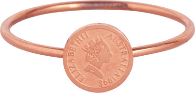 R964 Wish Coin Rosegoldplated Steel Ring