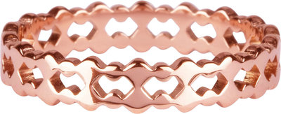 R910 Double trouble Roségoldplated steel Ring