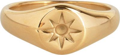 R1002 Mini Star Seal Goldplated Steel Ring