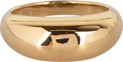 R994 Chunky Smooth Goldplated Steel Ring
