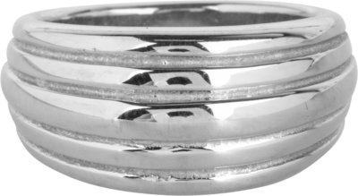 R991 Chunky Stripes Steel Ring