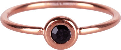 R958 Donut Rosegold-plated and black crystal