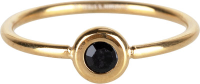 R957 Donut Gold-plated and black crystal