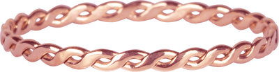 R1011 Curvy Tiny Chain Rosegoldplated Steel