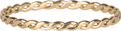 R775 Curvy Tiny Chain Goldplated Steel