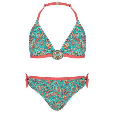 BOHO Bikini Meisje Paisley Sea Green