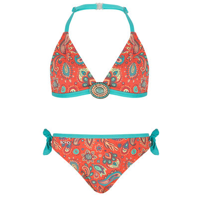 BOHO Bikini Meisje Paisley Coral