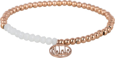 OHB31 Ohlala! Bracelet 4mm Rose Gold and white crystal