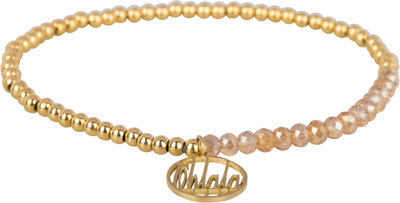 OHB24 Ohlala! Bracelet 3mm Gold and champ crystal