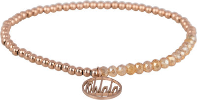OHB25 Ohlala! Bracelet 3mm Rose Gold and champ crystal