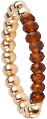 "OHR169 Stretch Medium Gold Steel and Brown Crystals ""MARGE-PAKKER"""