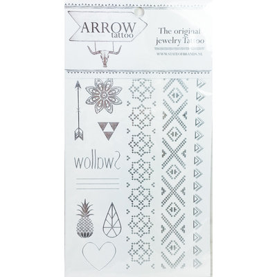 Arrow Festival Silver Tattoo AR00