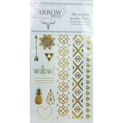 Arrow Festival Golden Tattoo AR01