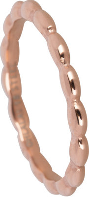 OHR134 Ovals Shiny Steel Rose Gold