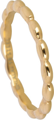 OHR133 Ovals Shiny Steel Gold