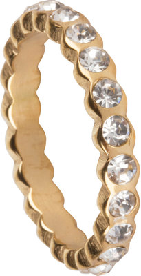 OHR149 Crystal CZ all around Gold Steel