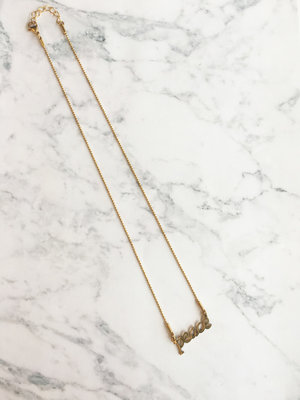 GiveAway Naamketting Peace Gold
