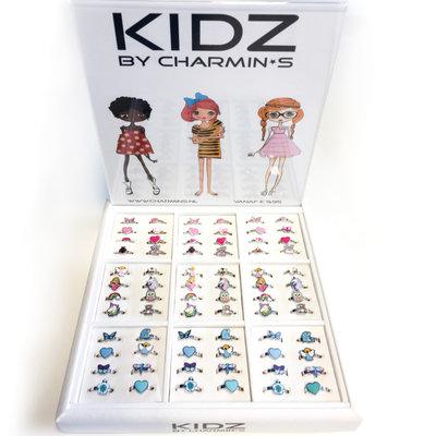 AA-KIDZ Rings Staal Display gevuld met 72 Ringen Pakket