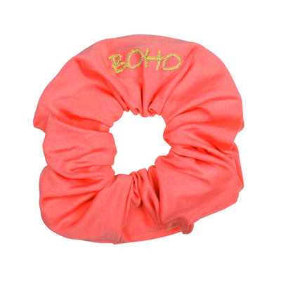 The Boho Scrunchy Coral Red
