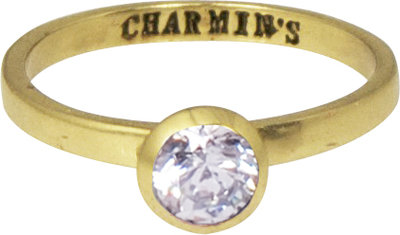 Ring KR49 'Round Diamond' Gold