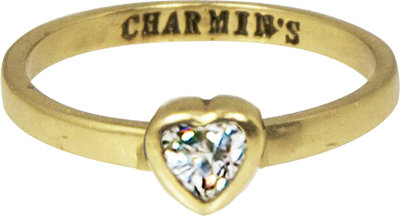 Ring KR55 'Crystal Love' Golden Look