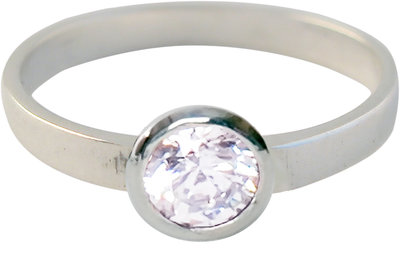 Ring KR01 'Round Diamond' White
