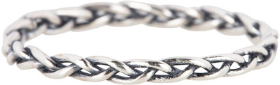 RING R487 'SILVER BRAID'
