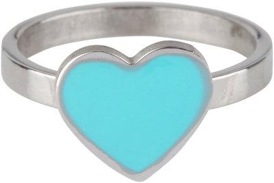 KR74 Heart Turquoise Shiny Steel