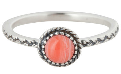 Ring R291 Pink 'Crown Nat Stone'