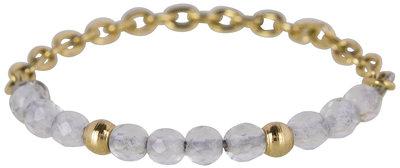 RING R460 GOLD 'STEEL HIPPY'