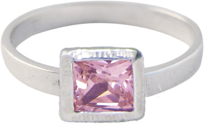 Ring KR27 'Cubic Diamond' Pink
